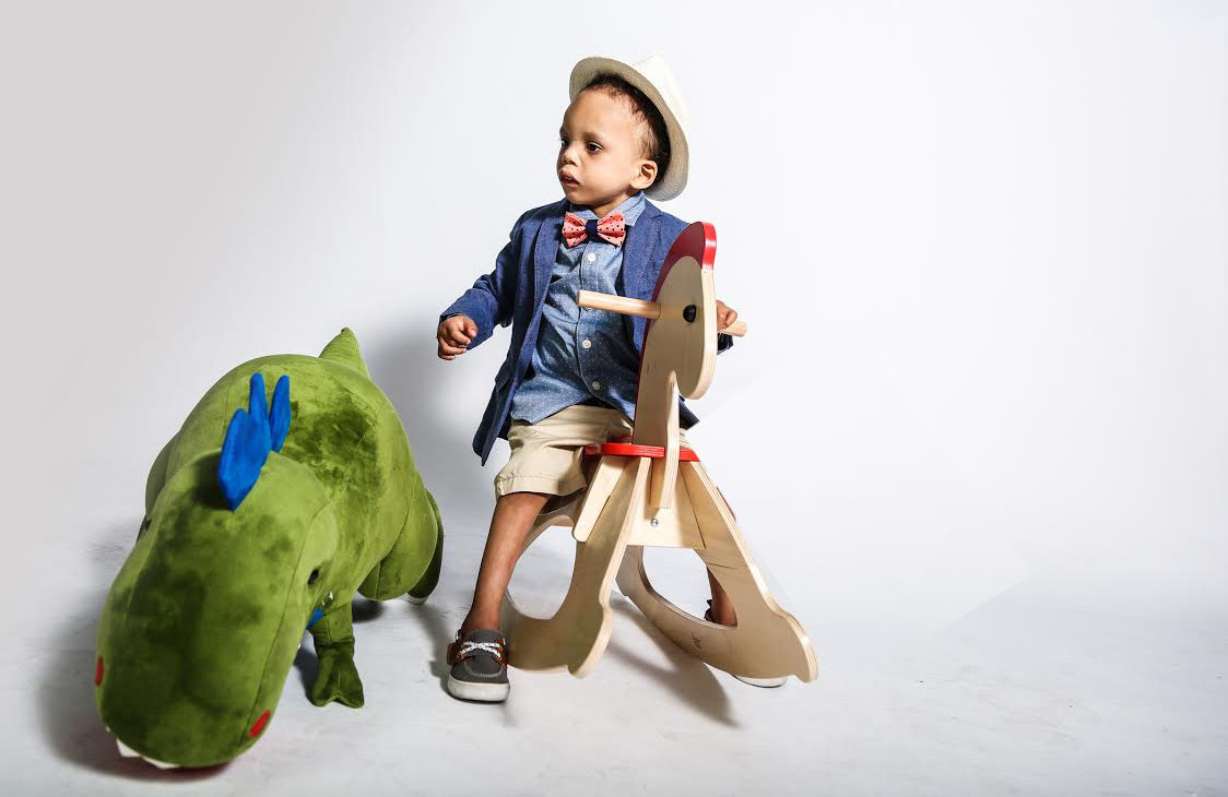Baby Noah on Wooden Horse
